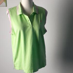 Lilly Pulitzer tennis golf shirt sleeveless Polo